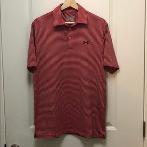 Under Armour Striped Golf Polo